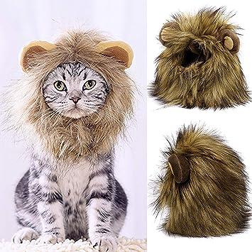 Amazon.com: Peluca de león para mascotas, disfraz, para ...
