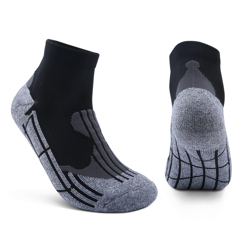 AIKER Athletic Socks Performance Cushion Mens Crew Socks Quarter Socks for Sports Running and Casual Use (2 Pairs)