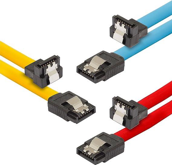 Poppstar - 3X Cable de Datos Flexible de 0,5m Sata 3 HDD SDD ...