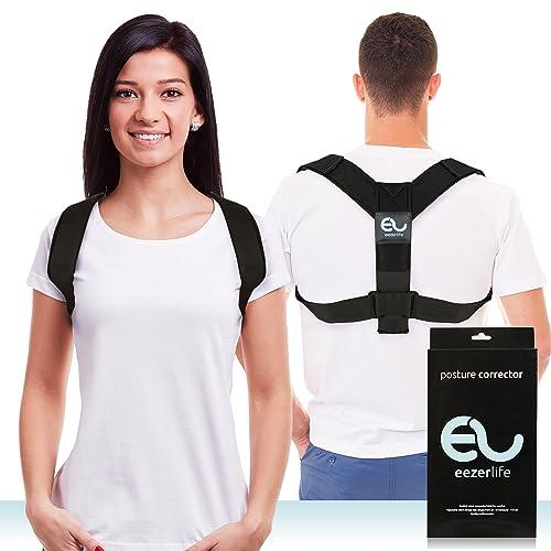 Eezerlife Posture Corrector - Back Support Brace for Men & Women - Adjustable & Wearable Medical Tool for Spine Support - Good Correction Belt for Kyphosis, Hunchback or Slouched Shoulders