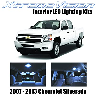Xtremevision Interior LED for Chevrolet Silverado 2007-2013 (12 Pieces) Cool White Interior LED Kit + Installation Tool: Automotive