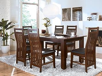 Stuhl mit Armlehne 45cm Holz Pinie Armlehnstuhl Rattanstuhl massivum Bologna