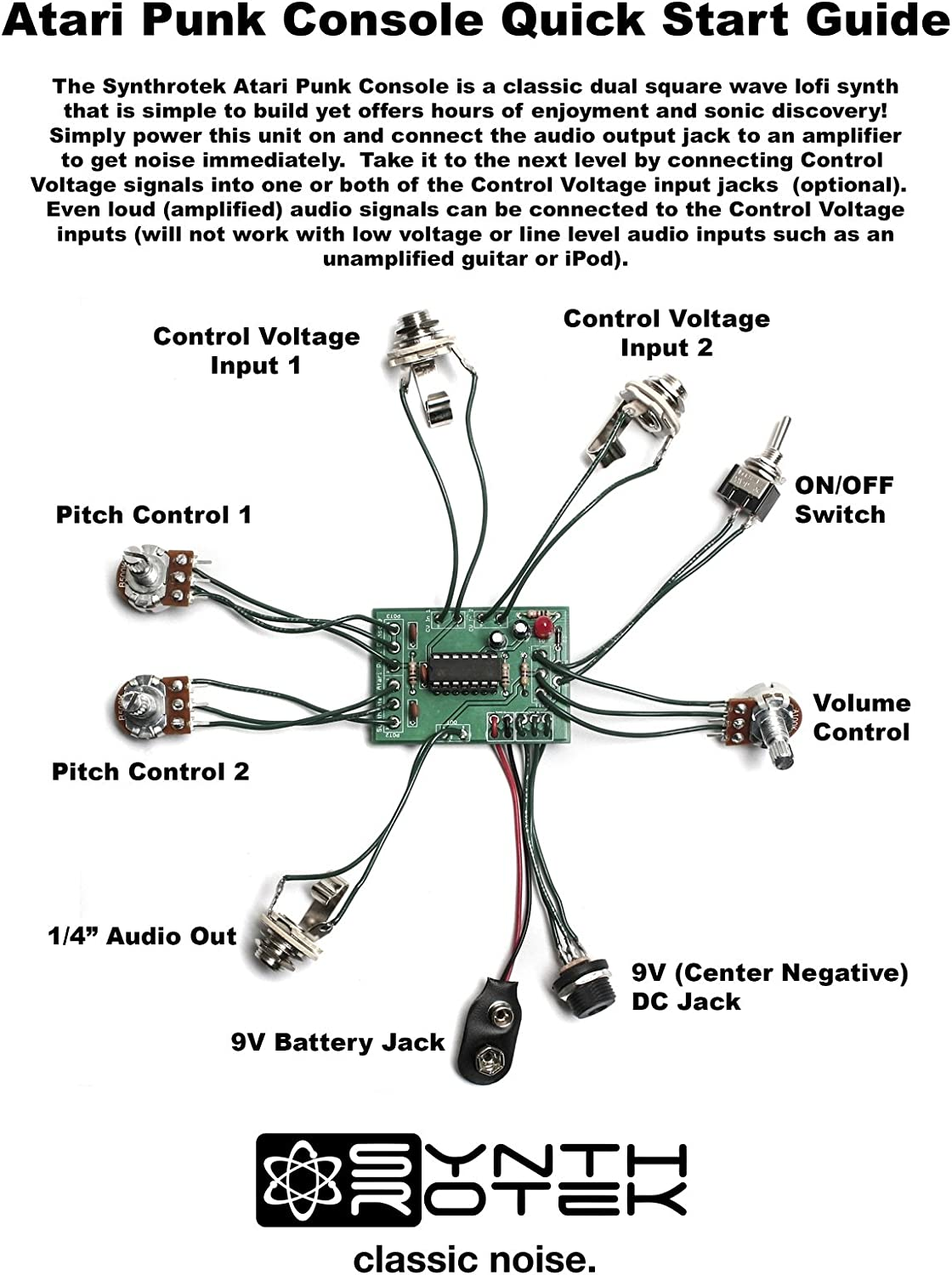 Synthrotek Atari Punk Console Kit Video Games Learn To Build The Electronic Circuits