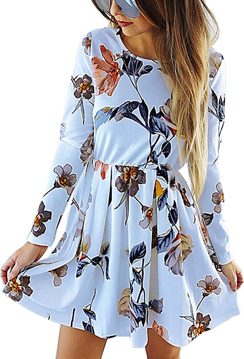Angashion Womens Dresses Casual Floral