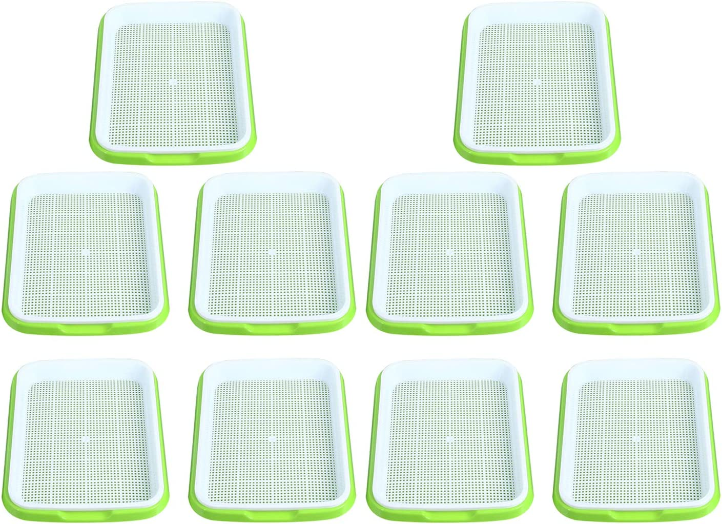 Homend Seed Sprouter Tray, Seed Germination Tray BPA Free Nursery Tray for Seedling Planting Great for for Garden Home Office (10)