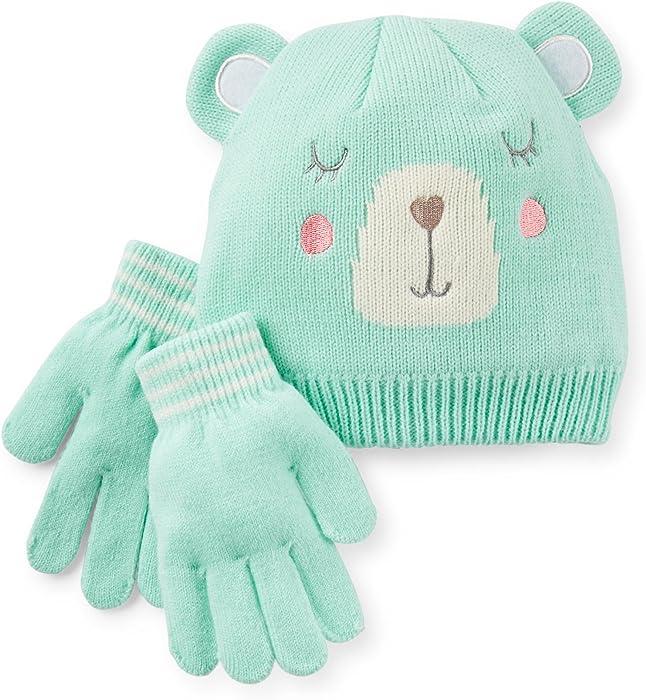 Amazon.com  Carter s Little Girls  Winter Hat and Glove Set (4-6X ... dfec2300cb1d