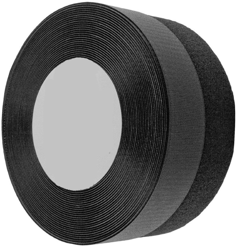 Wish you have a nice day 1 Inches 26 yards Black Sew on Hook and Loop Fastener Sew (1inch, 26yards) by