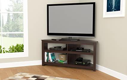 Amazon Com Inval Mtv 13519 Espresso Wengue Wood 50 Corner Tv Stand