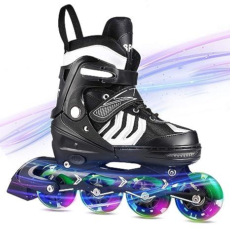 Roller Skates Amazon Com >> Ancheer Inline Skates Adjustable Women Men Kids Roller Skates For Girls Boys Size 12 8 Aggressive Urban Toddler Skating