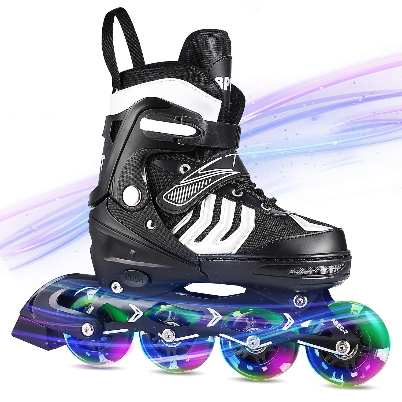 ANCHEER Inline Skates Adjustable for Kids Girls/Boys Roller Skates