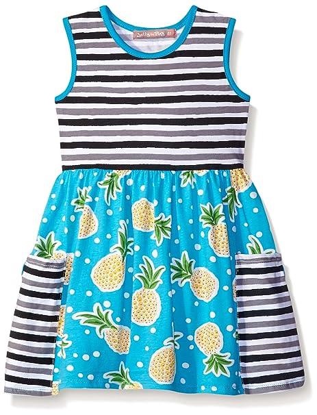254f6cfd94f1 Amazon.com  Jelly the Pug Girls  Big Pocket Pineapple Parfait Knit Dress   Clothing