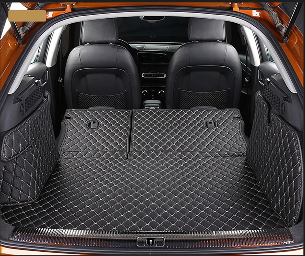 Worth-Mats 3D Full Coverage Waterproof Car Trunk Mat For Mercedes GLC COUPE - Black with Gold Stitching by Worth-Mats