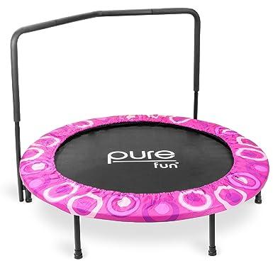 Pure Fun Super Jumper – Cama elástica con pasamanos, 9009SJ, Rosa ...