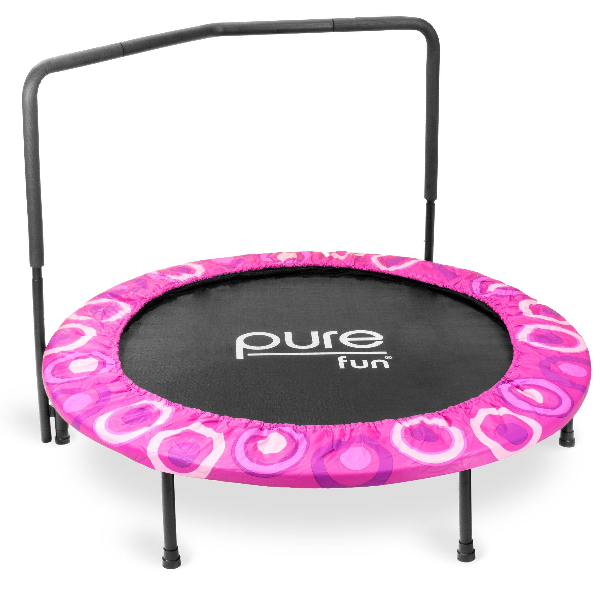 Pure Fun 9008SJ Super Jumper Kids Trampoline with Handrail, Pink - 48 Inches