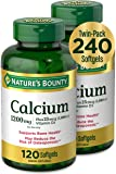 Calcium & Vitamin D by Nature's Bounty, Immune Support & Bone Health, 1200mg Calcium & 1000IU Vitamin D3, 120 Softgels…