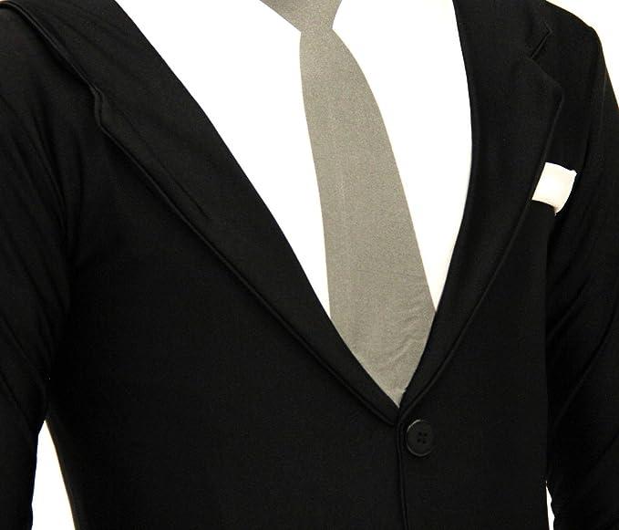 Amazon.com: Slender Man Spandex Full Body Zip Up Bodysuit ...