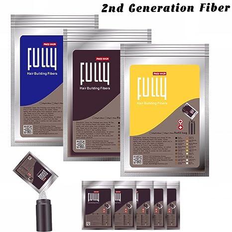 Fully - Recarga de densificante de cabello - queratina - Compatible con todas las fibras capilares