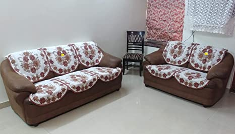 Tremendous Fab Nation 3 1 1 Sofa Cover For 5 Seater Sofa Set Brown Sofa Cover And Chair Cover Set Brown Sunflrower Unemploymentrelief Wooden Chair Designs For Living Room Unemploymentrelieforg