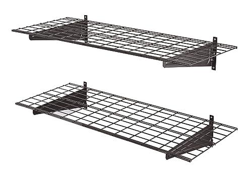 Muscle Rack HWS4818-2PKSV Heavy-Duty 48 2 Pk Wall Shelf, 11 Height, 96 Width, 18.0 Length,