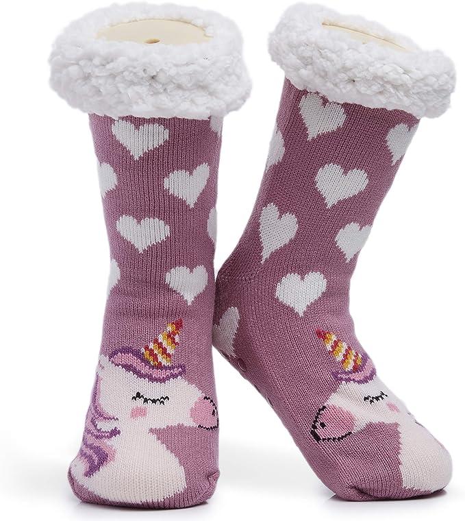 Non Slip Premium Soft Home Socken Pinguin Einheitsgr/ö/ße Neuheit Owl Dog Cat Flauschige Und Pelzige Slipper Socke Sch/önes Geschenk CityComfort Slipper Socken Damen Und M/ädchen