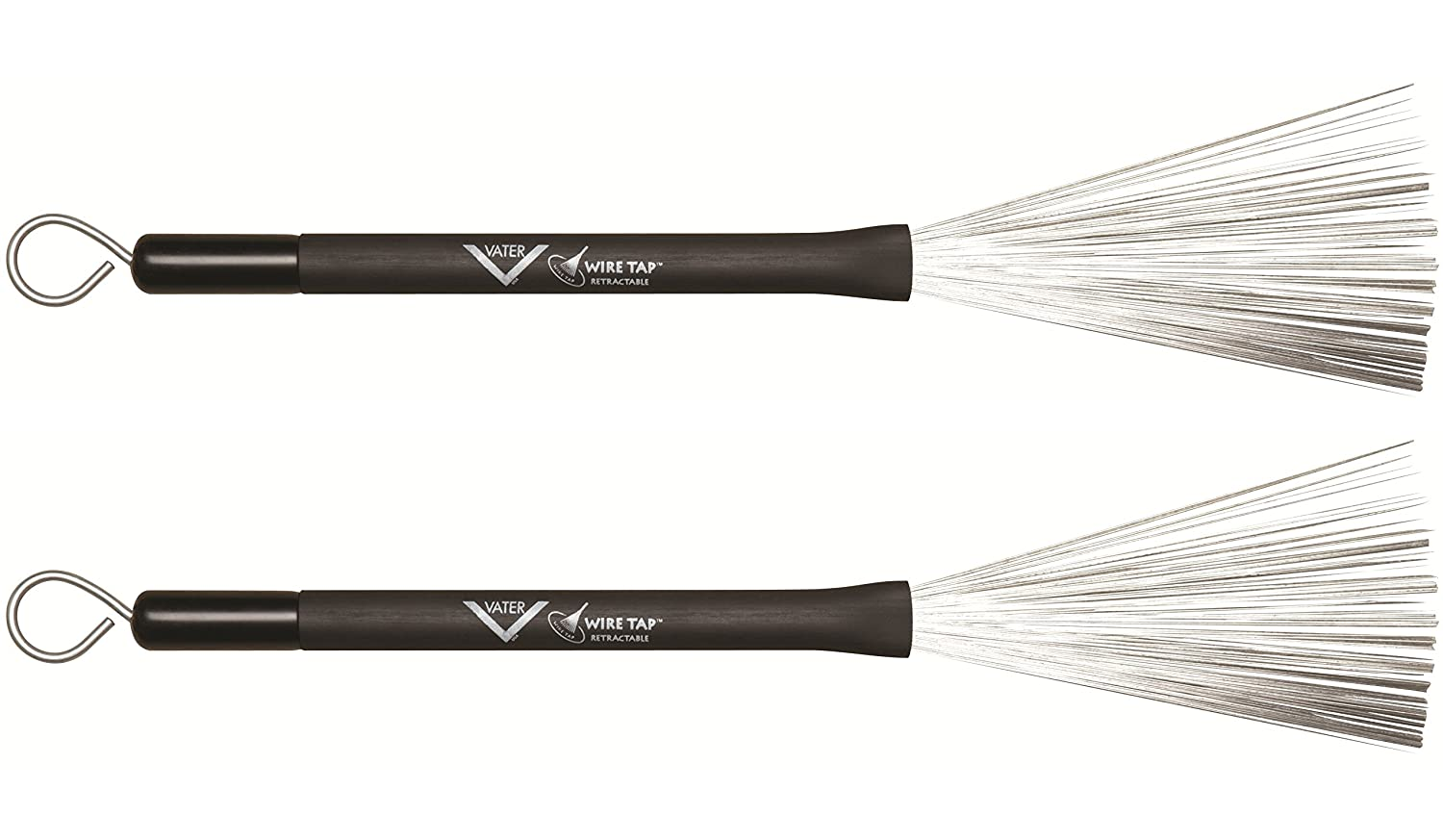 Amazon.com: Vater VWTR Retractable Wire Brushes: Musical Instruments