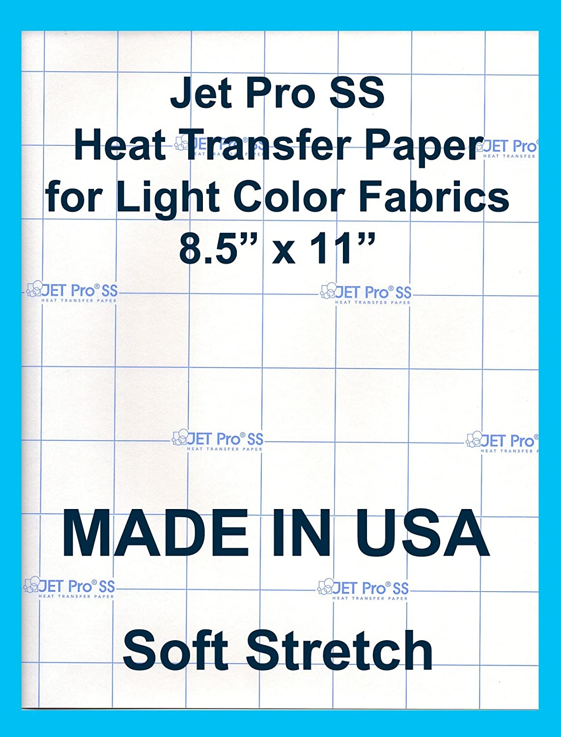 "Amazon.com : Jet-Pro SofStretch Inkjet Heat Transfer Paper 8.5""x11""  (50sheets) : Fabric Iron On Transfers : Office Products"