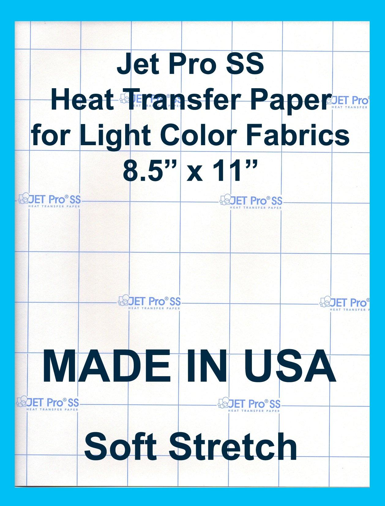"Jet-Pro SofStretch Inkjet Heat Transfer Paper 8.5""x11"" (25 sheets)"