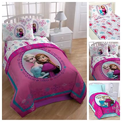 Amazoncom Disney Frozen 5 Piece Bed In A Bag Twin Bedding Set
