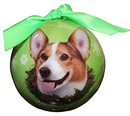 welsh corgi christmas ornament shatter proof ball easy to personalize a perfect gift for welsh corgi - Corgi Christmas Ornaments
