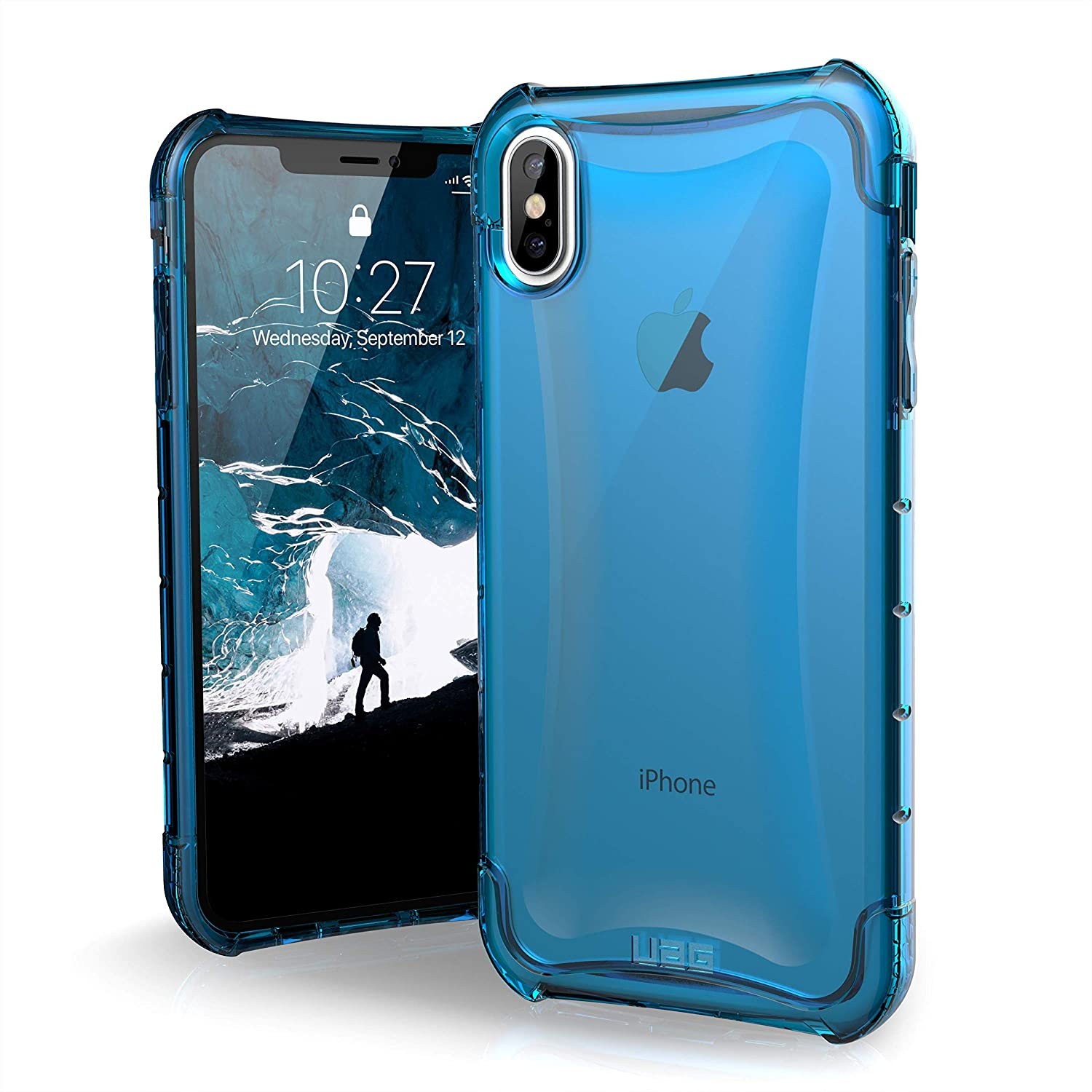 huge discount e46c2 f11ef URBAN ARMOR GEAR UAG iPhone Xs Max [6.5-inch Screen] Plyo Feather-Light  Rugged [Glacier] Military Drop Tested iPhone Case
