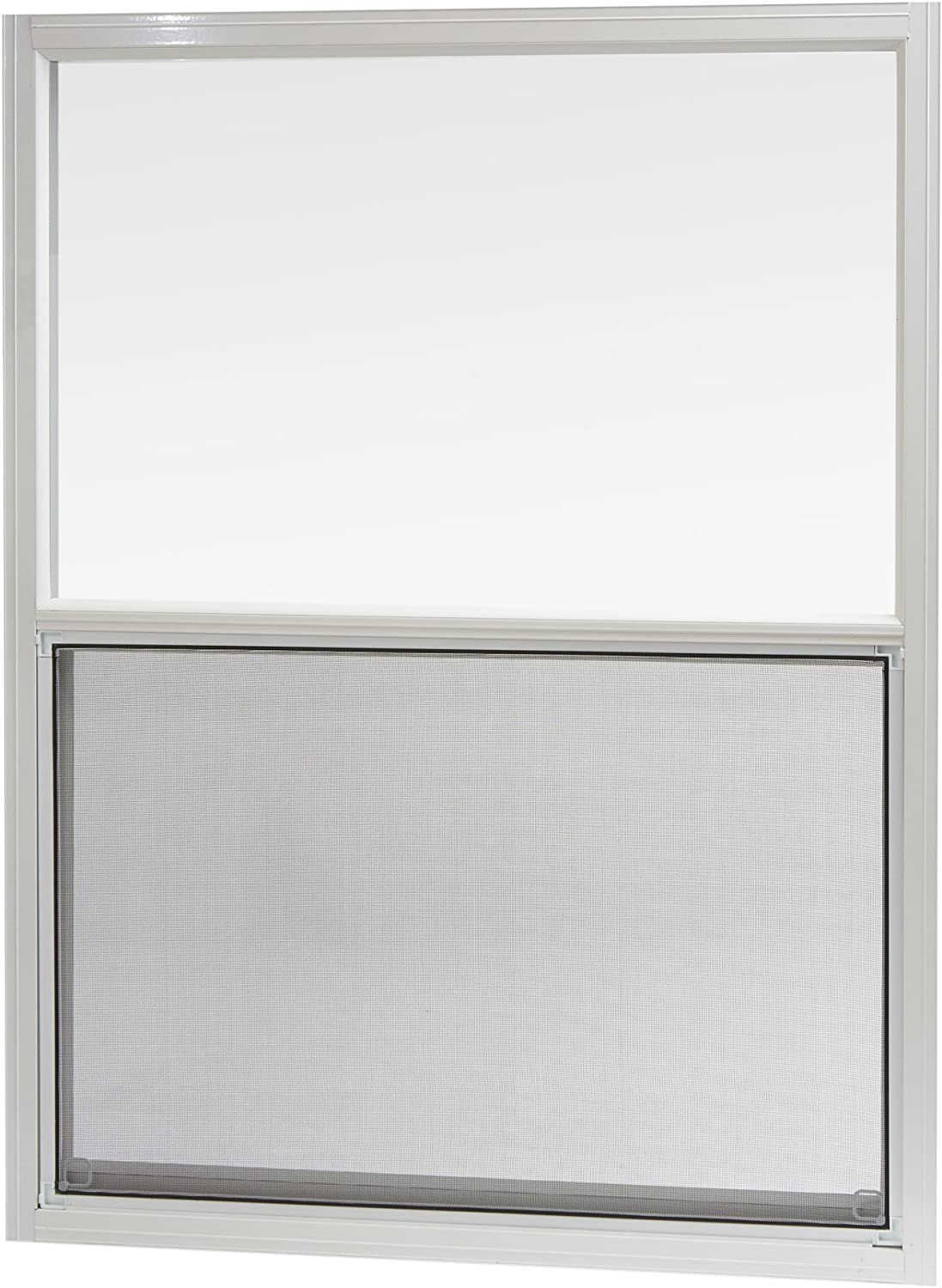 "Park Ridge Products AMHW3040PR Park Ridge White Aluminum Mobile Home Single Hung Window, 30"" x 40"""