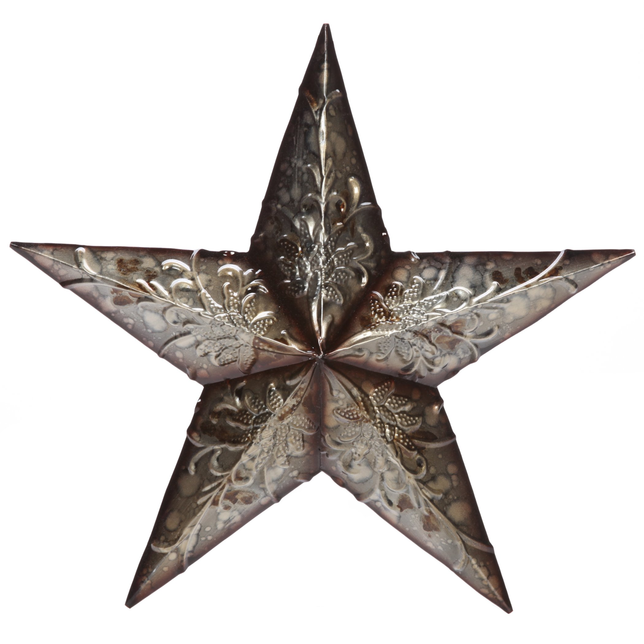 Hosley 16'' High Metal Star Wall Large Decor, Country Style Rustic. Ideal Gift for Wedding, Party, House Warming, Home Office. IDBPP00P1 O9