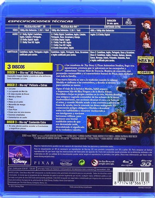 Brave (3D Combo) [Blu-ray]: Amazon.es: Animación, Mark Andrews, Brenda Chapman, Animación: Cine y Series TV