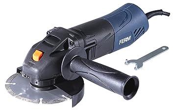 FERM Meuleuse d angle - 500W - 115mm - Protection électronique de  redémarrage - Soft 2e897fe851d6