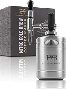 My Morning Brew Nitro Cold Brew Coffee Maker | Premium Portable Home Brewing Kit (Stainless Steel)