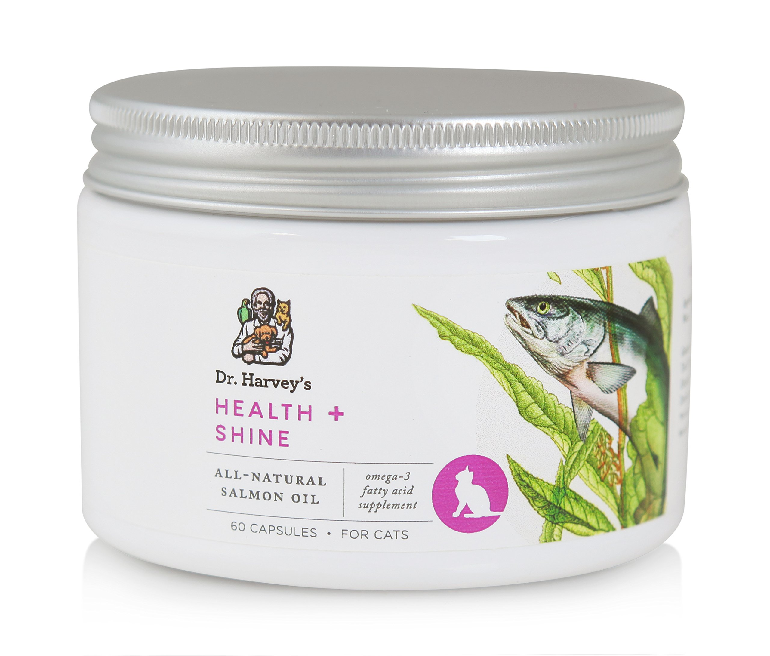 Dr. Harvey's 60 Count Health and Shine Oil Capsules for Cats