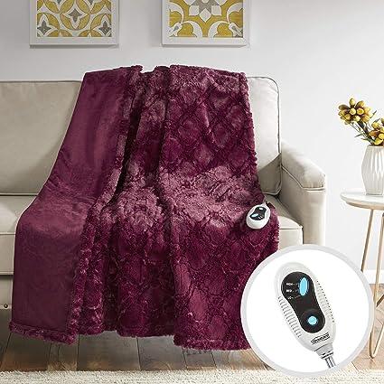 Home Décor Baby Soft Faux Fur Throw Capable Tartan Love Fleece Blanket