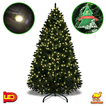 strong camel 7 tall artificial fir christmas tree full spruce with metal base 7