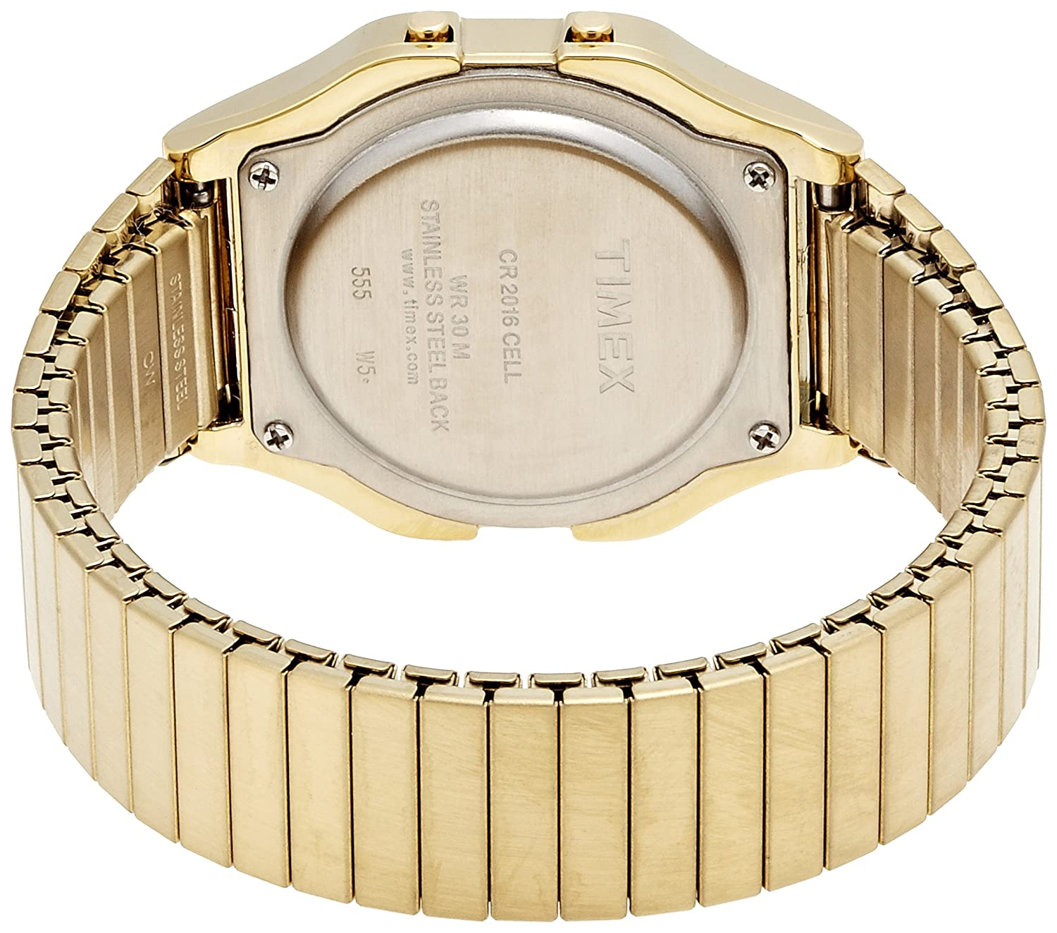 f5daa600aeb5 Amazon.com  Timex Men s T78677 Classic Digital Gold-Tone Stainless Steel  Expansion Band Watch  Timex  Watches