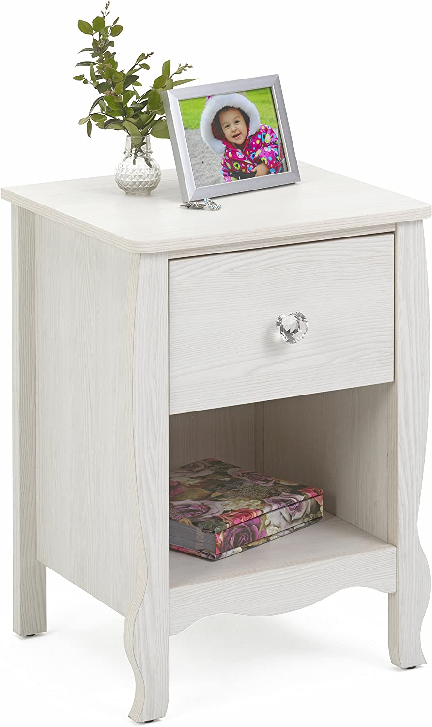 4D Concepts Lindsay NIGHTSTAND, Stone White Oak