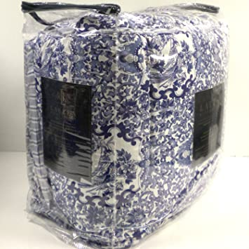 Superb Lauren Ralph Lauren Comforter Set Full Queen 3 Piece Tamarind Porcelain  Blue White Bird Bedding