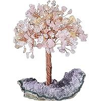 KYEYGWO Árbol de cristal curativo Reiki en 3 colores de amatista natural, base en bruto de piedra para dinero, Feng Shui…