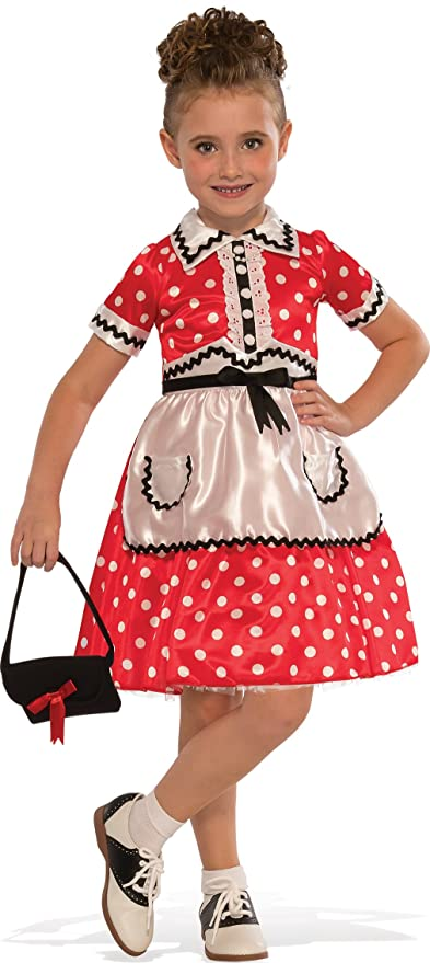Kids 1950s Clothing & Costumes: Girls, Boys, Toddlers Rubies Costume Childs Little Lady Costume Large Multicolor $18.99 AT vintagedancer.com