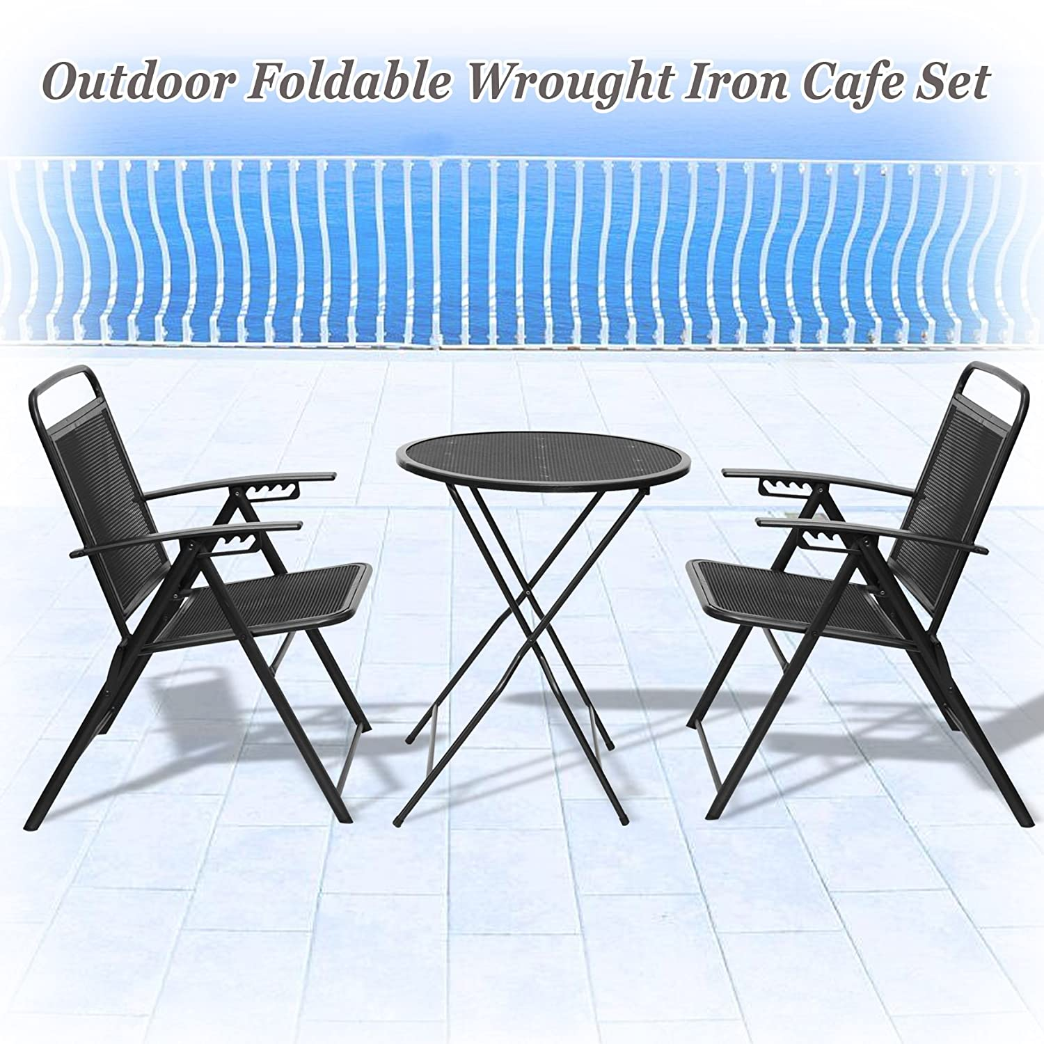 Amazon STRONG CAMEL Bistro set Patio Set Table and Chairs