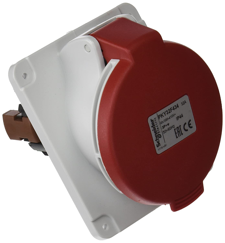 /60/Hz T 50/ Schneider electric pky32/F734/prise Panneau en angle PK Papillote avec connexion 32/A IP 67/380/V 3P