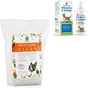 Dr. Harvey's Veg-to-Bowl Fine Ground (7 lbs.) Base Mix for Dogs paired with Health & Shine Omega 3 Fish Oil for Dogs