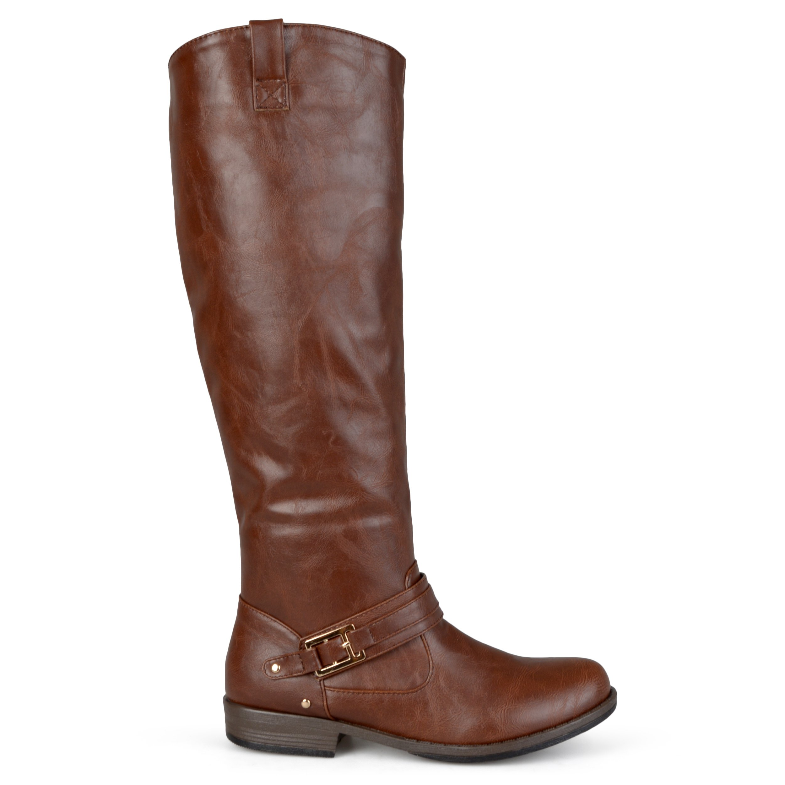 Brinley Co Women's Blaire WC Riding Boot, Brown Wide, 10 M US