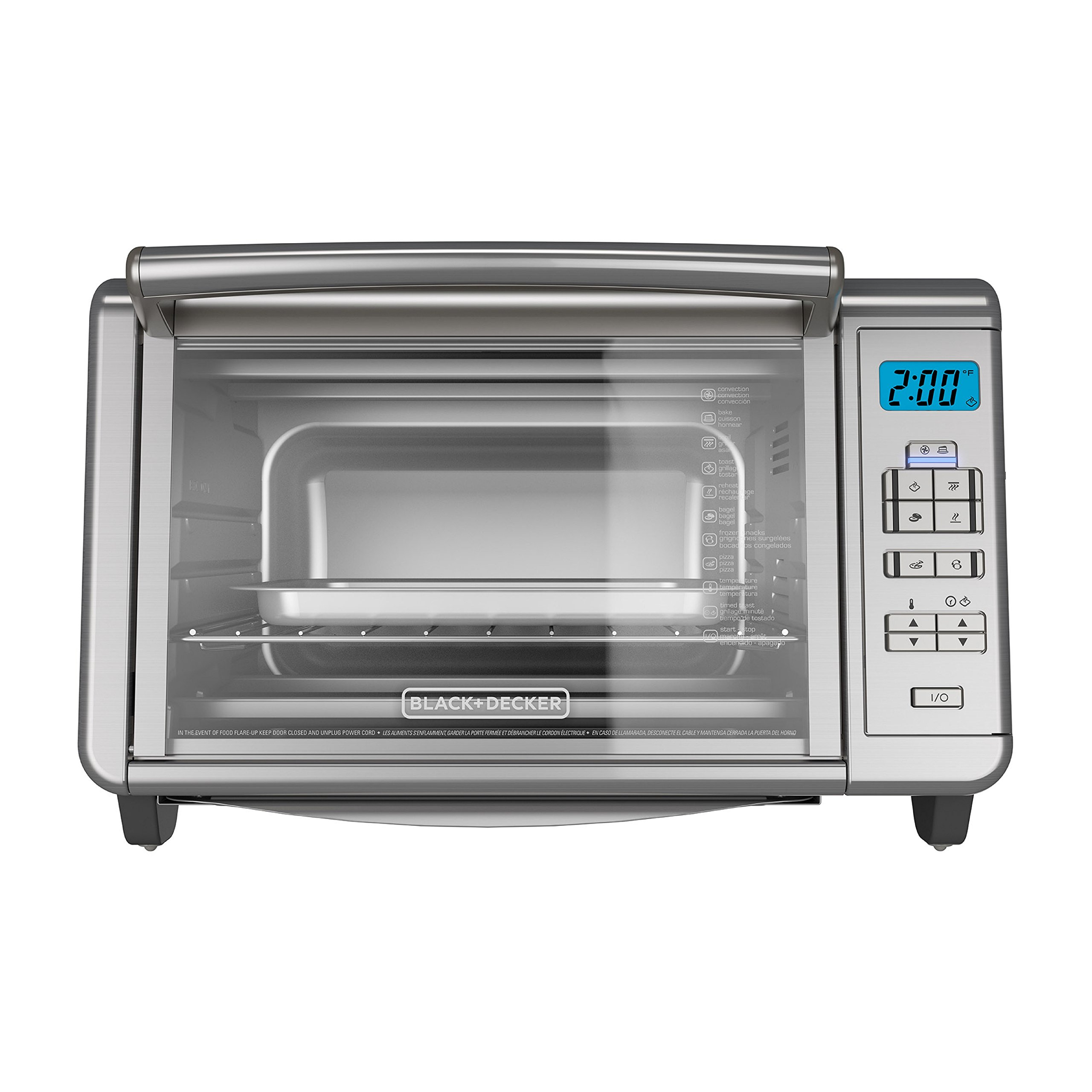 BLACK+DECKER 6-Slice Digital Convection Countertop Toaster Oven, Stainless Steel, TO3280SSD by BLACK+DECKER (Image #8)