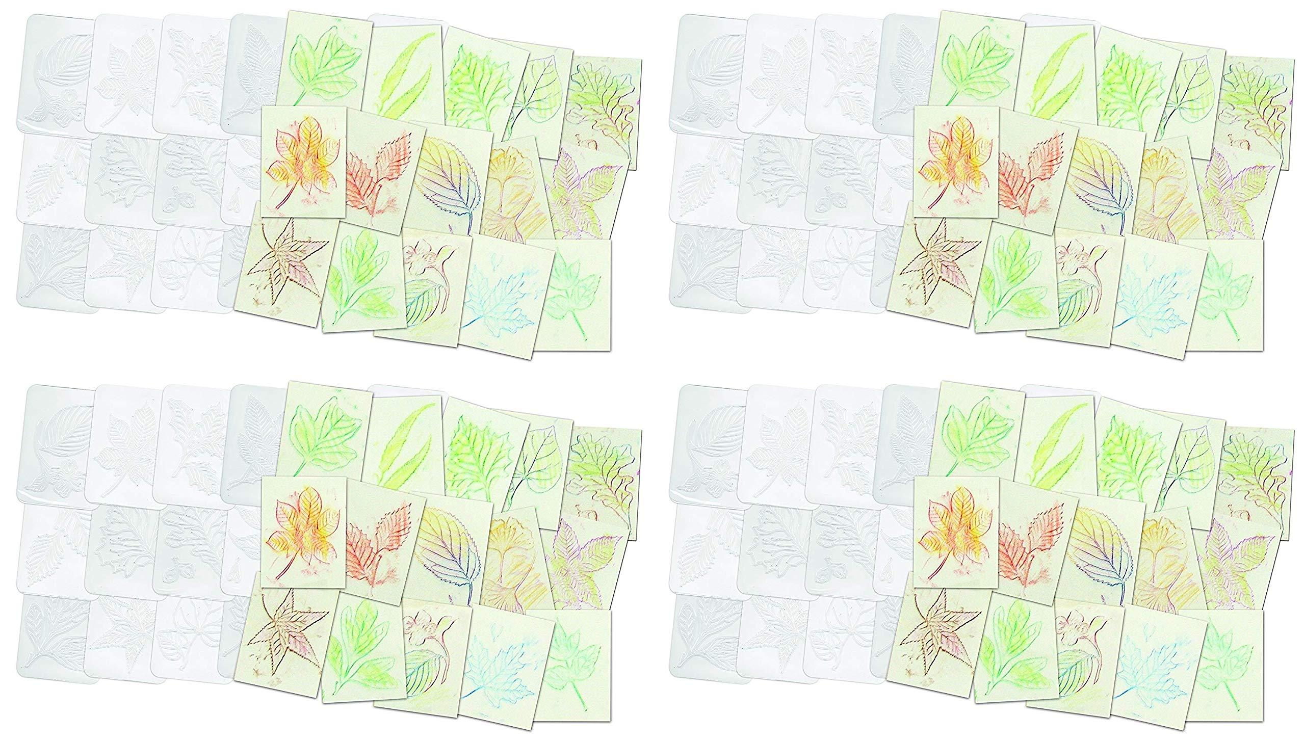 Roylco Leaf Rubbing Plates (Fоur Расk) by Roylco