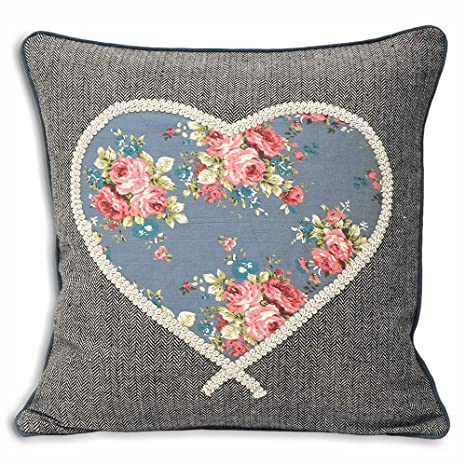 Paoletti Sweet Cottage corazón Funda para cojín, Tela ...